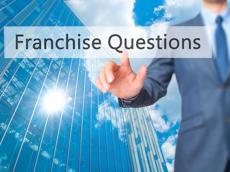 Franchise Questions - Businessman Hand Pressing Button On Touch Screen